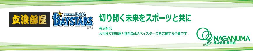 立浪部屋と横浜DeNAベイスターズを応援する企業です
